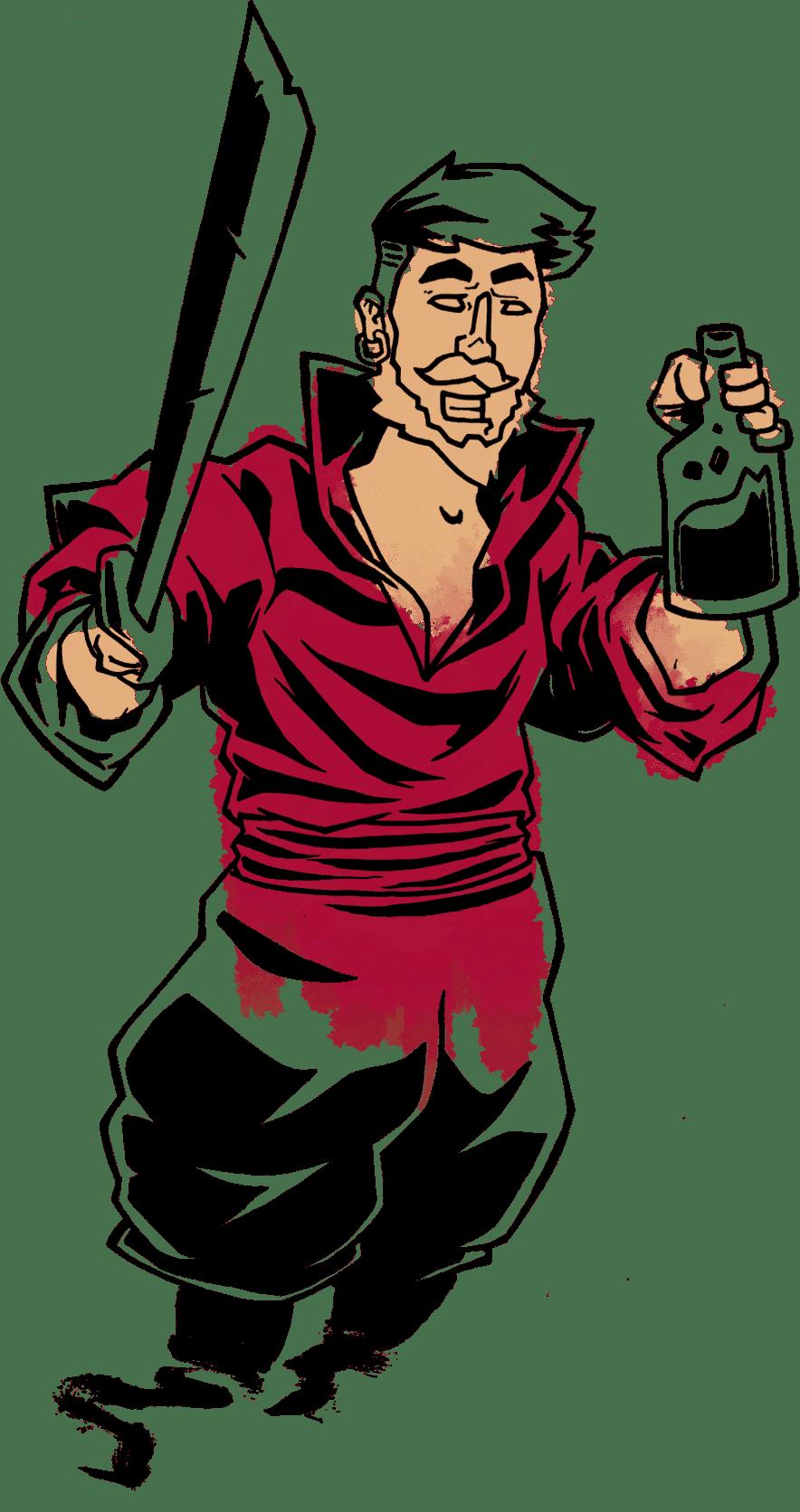 Illustration représentant un pirate.