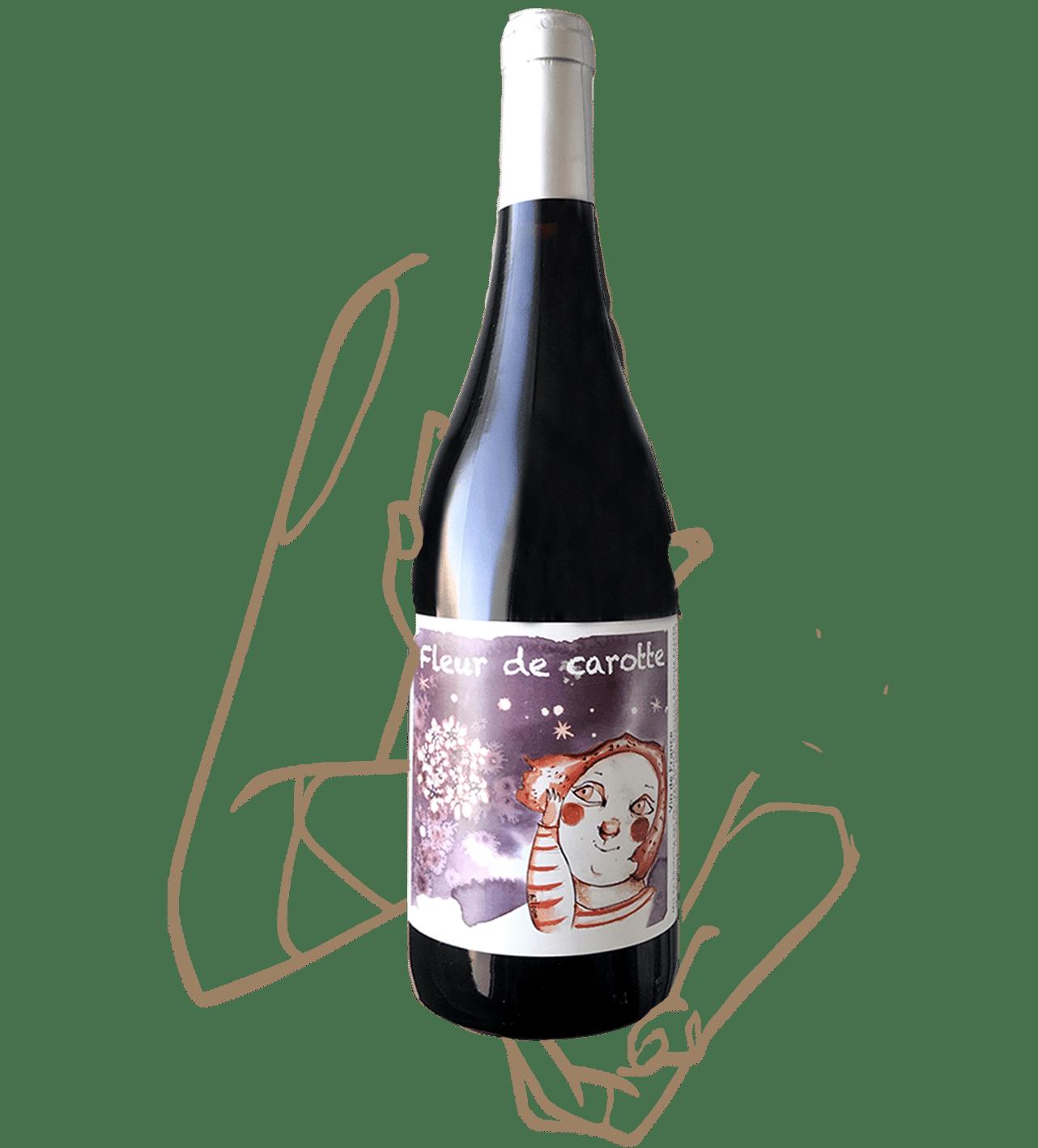 fleur de carotte du domaine Badéa est un vin nature rouge