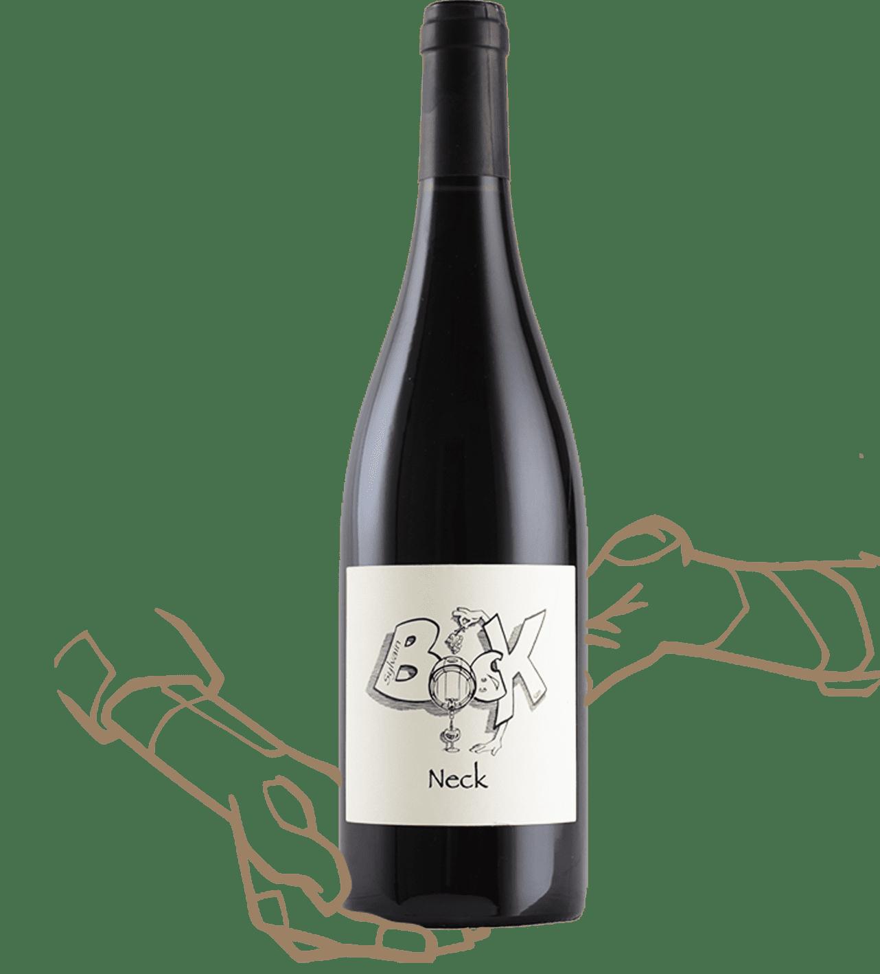 neck est un vin naturel rouge sans sulfite ajouté de sylvain bock en ardèche