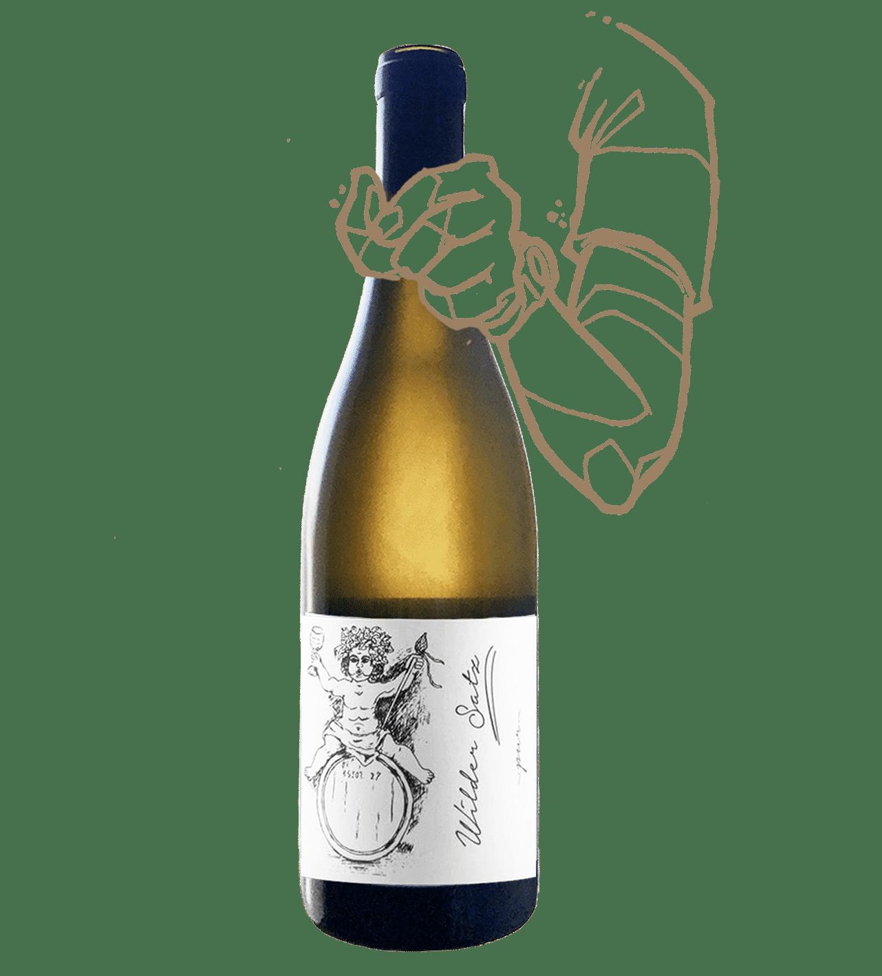 wilder satz est un vin naturel blanc sans sulfite ajouté fait par brand bross