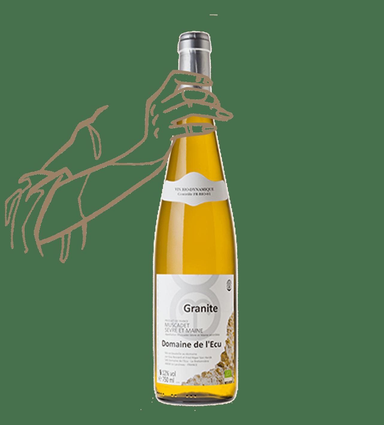 Granite du domaine de l'Ecu est un vin naturel du muscadet