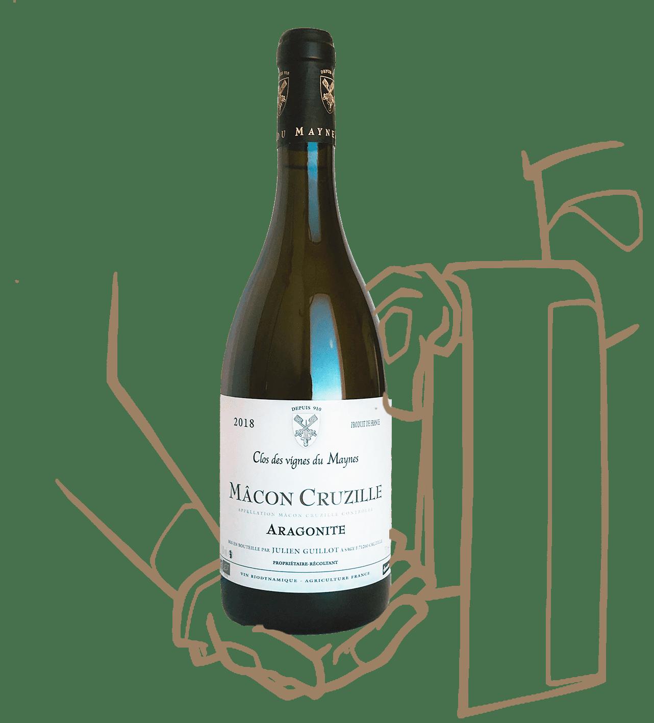 Cuvée Aragonite du Clos des vignes du Maynes, Vin naturel de Bourgogne