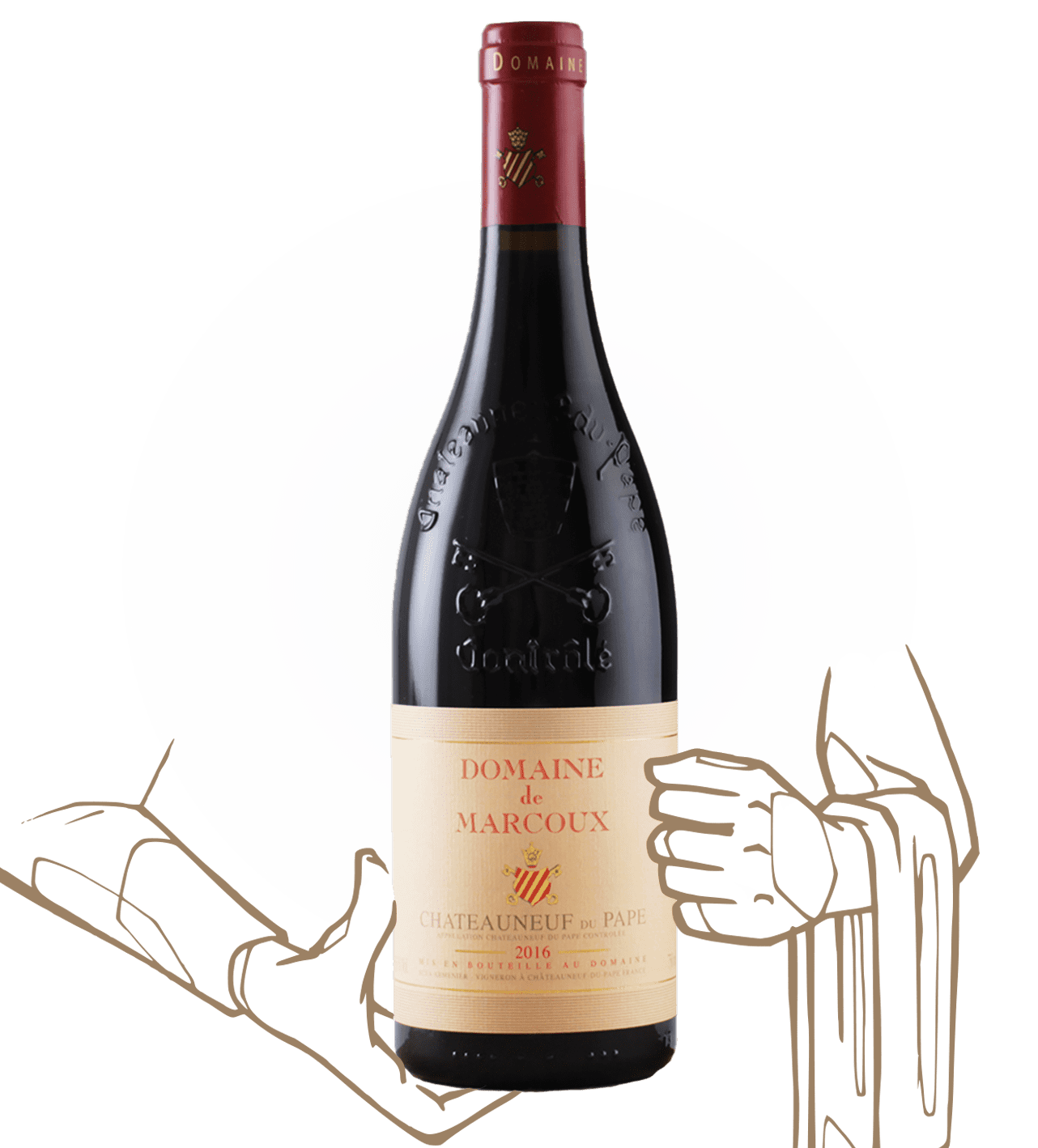 Chateauneuf du pape du domaine marcoux, vin biodynamique