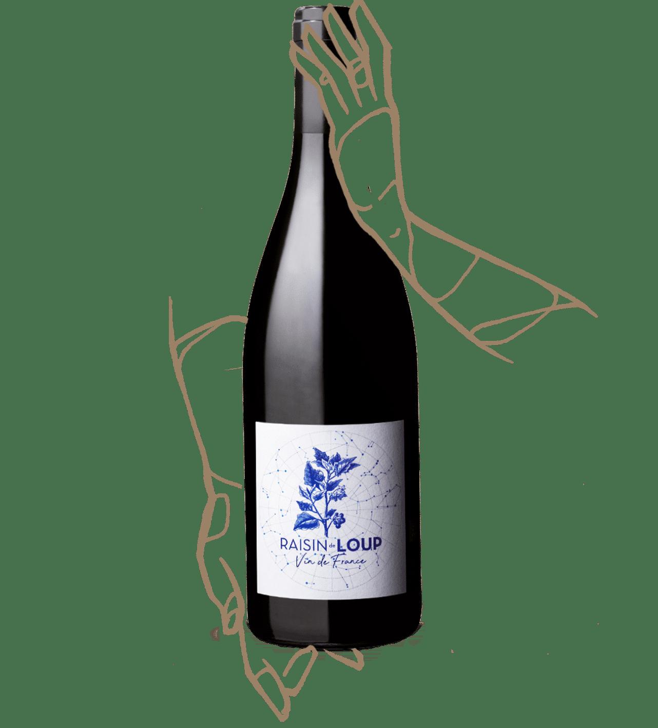 Bouteille de vin Raisin de loup du domaine de Marcoux