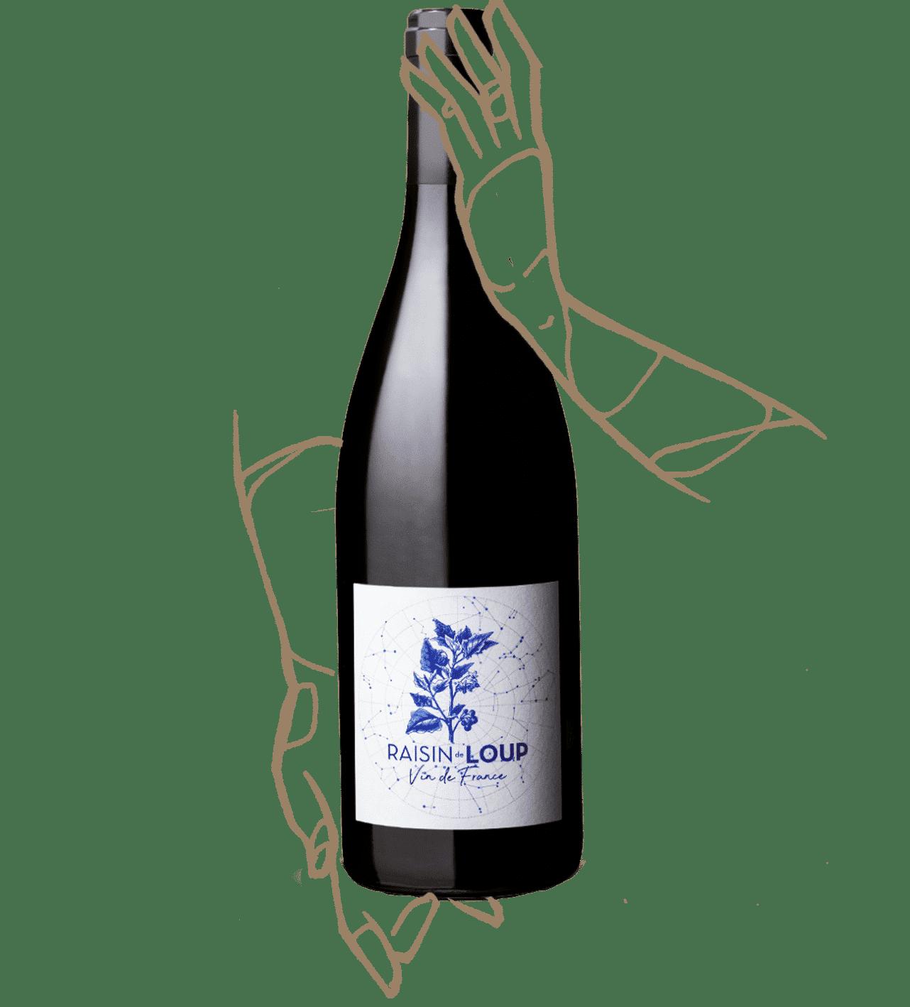 Raisin de loup est un vin rouge nature du domaine marcoux