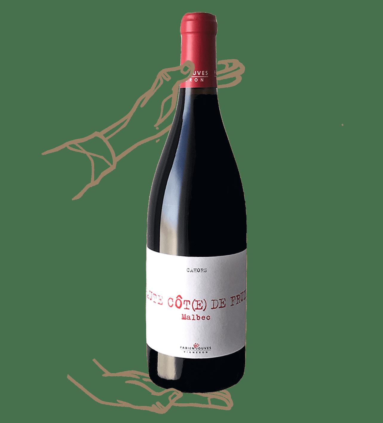 haute côte de fruits est un vin rouge nature de fabien jouves du domaine mas del pieré