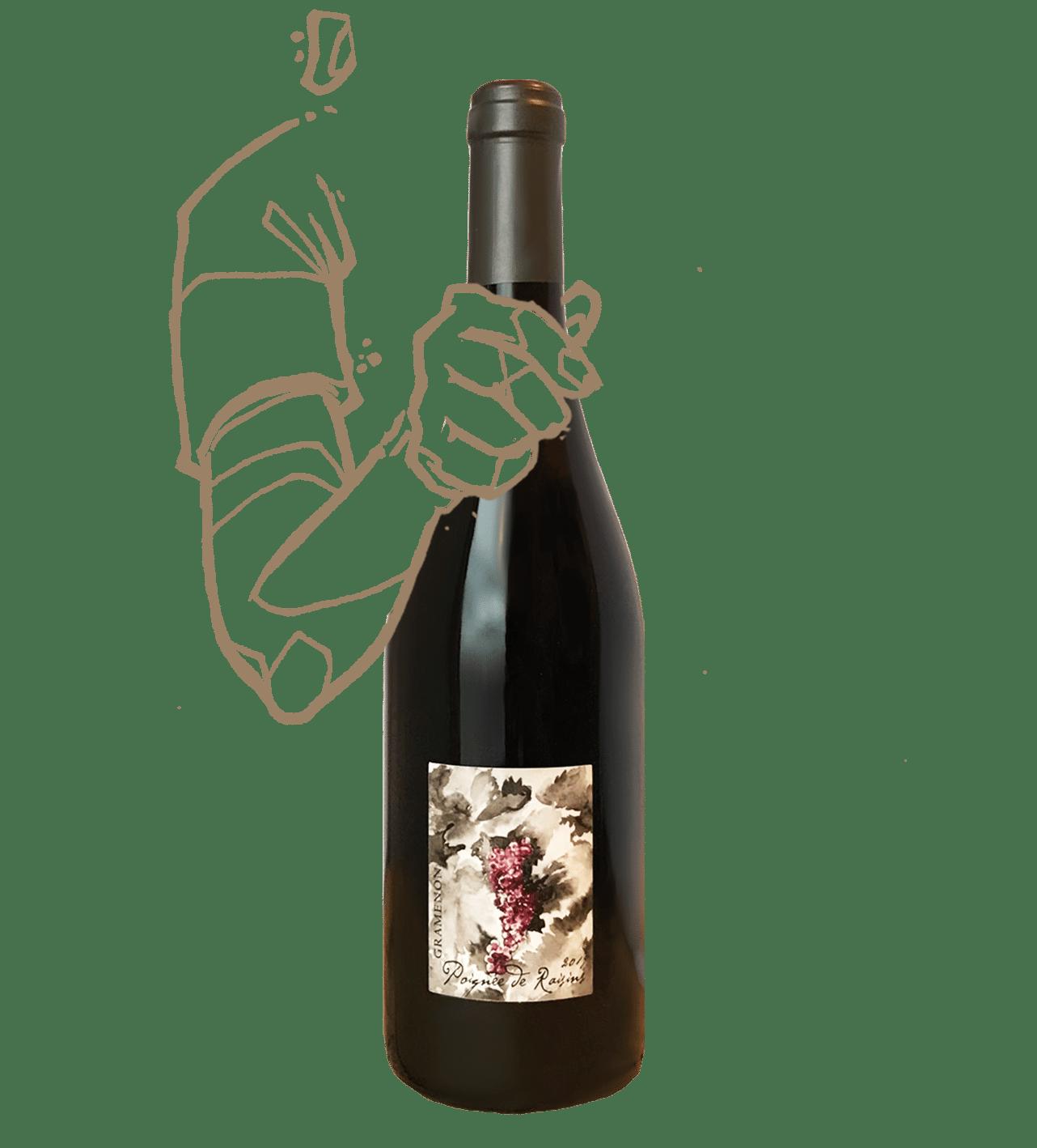 Une poignée de raison est un vin naturel du domaine de Gramenon