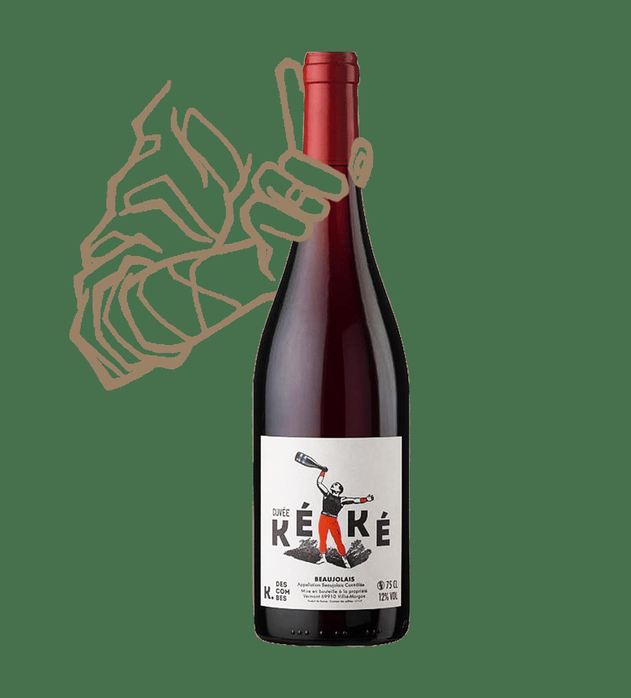 La cuvée Kéké de K.descombes est un vin nautrel du Beaujolais