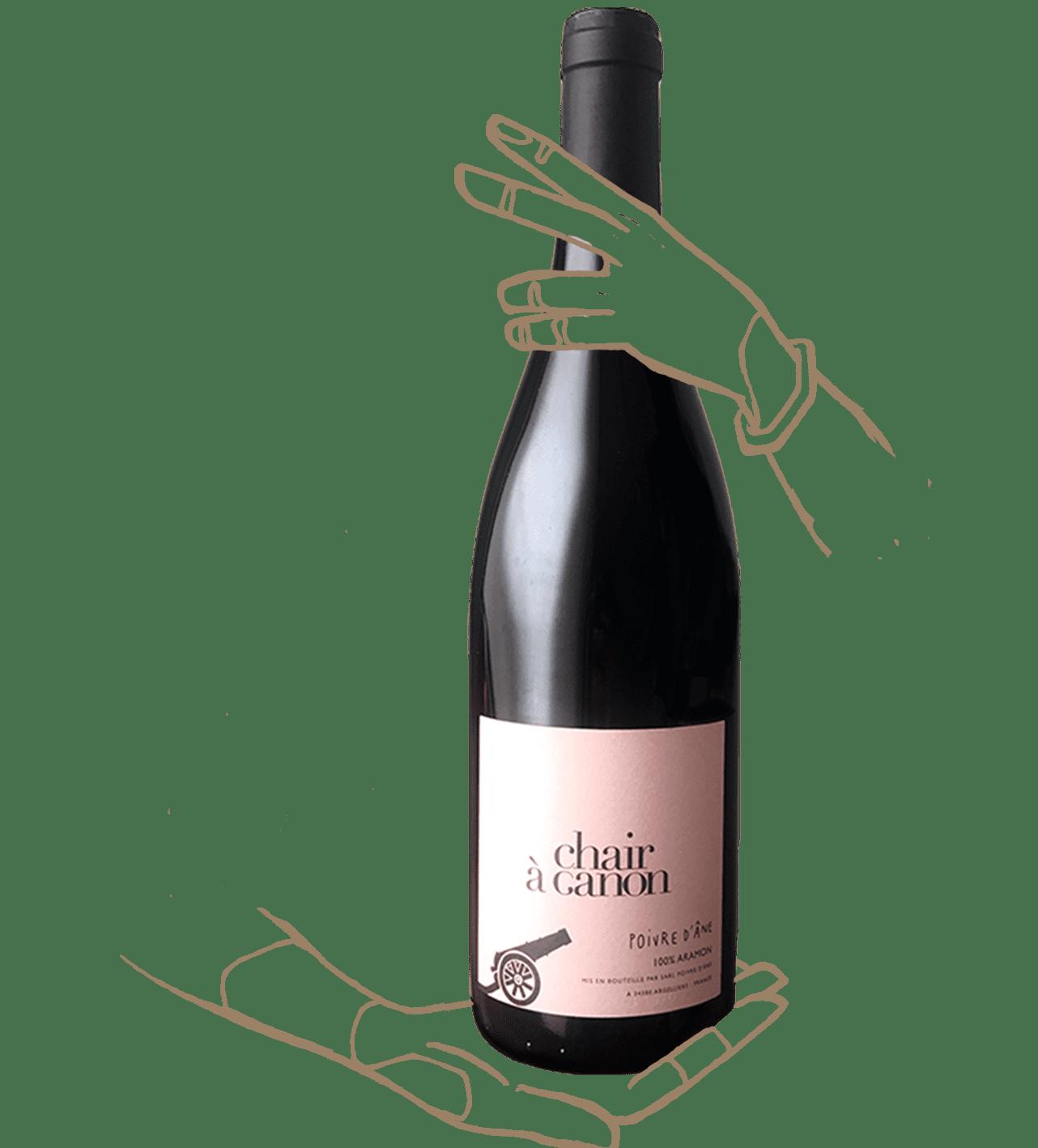 Chair à canon est un vin naturel rouge de poivre d'ane
