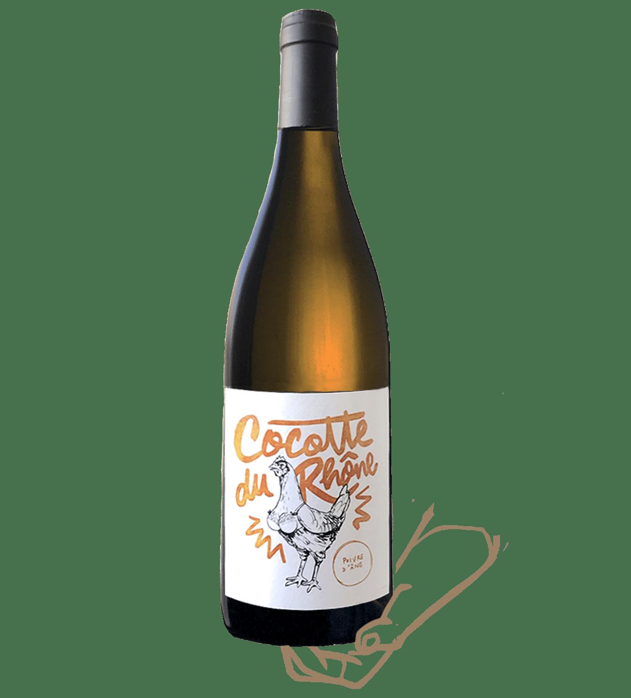 cocotte du rhone est un vin blanc nature poivre d'ane