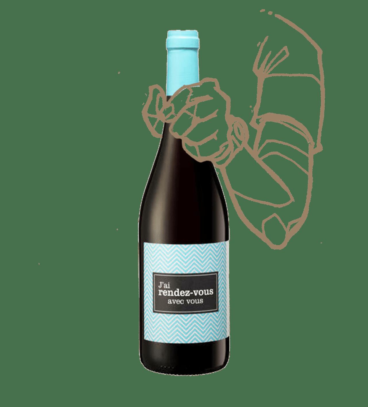 J'ai rendez-vous avec vous du domaine Rière cadène est un vin bio rouge pas cher.