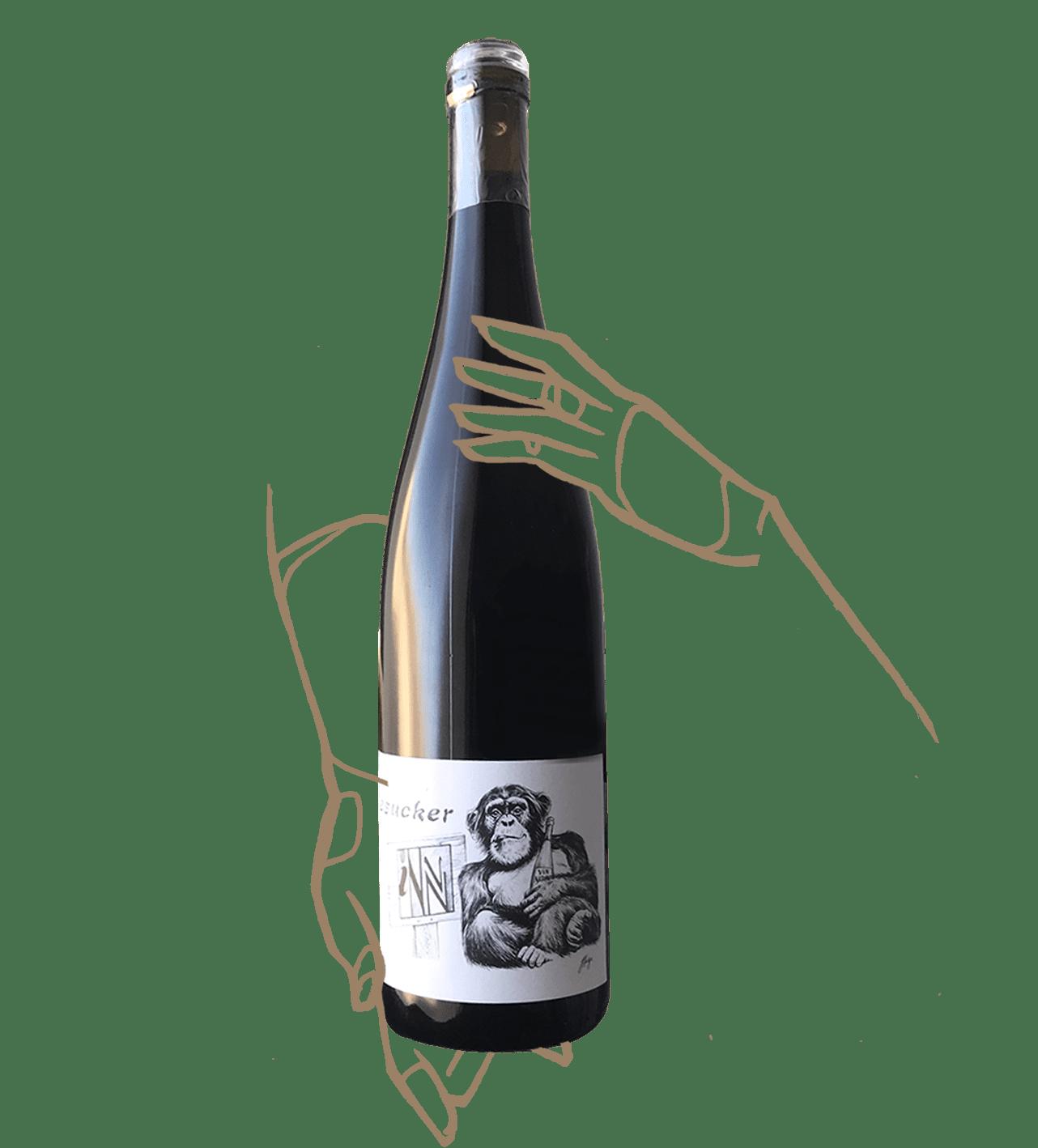 Un pinot noir signé winesucker et les vins pirouettes, vin naturel Alsace