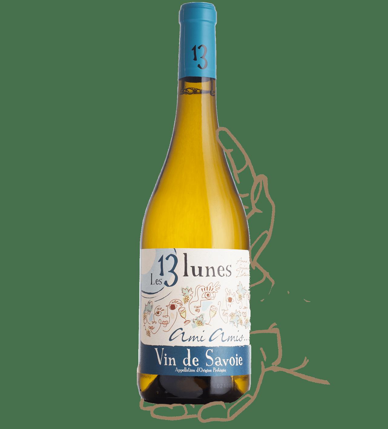 Ami amis est un vin naturel de savoie du domaine des 13 lunes