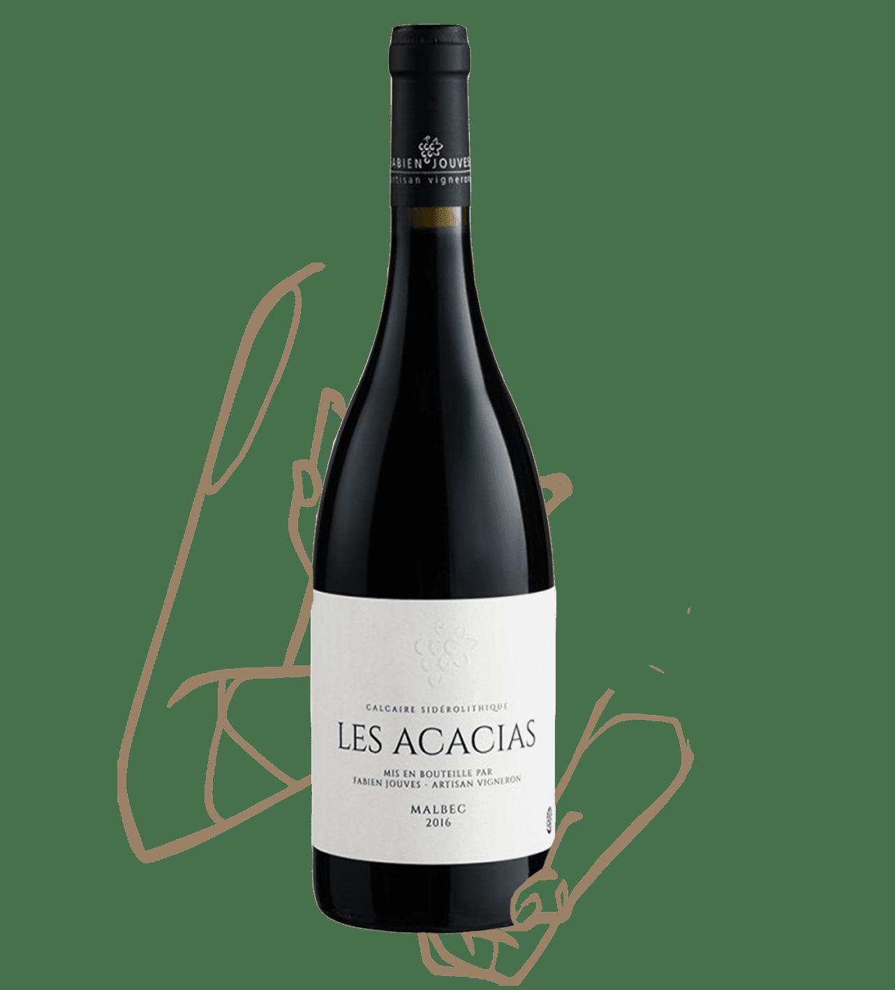 Les acacias est un vin naturel du cahors de fabien jouves (mas del périé)