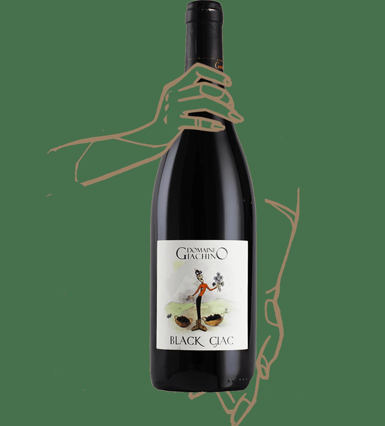 Black giac du domaine giachino est un vin naturel de savoie