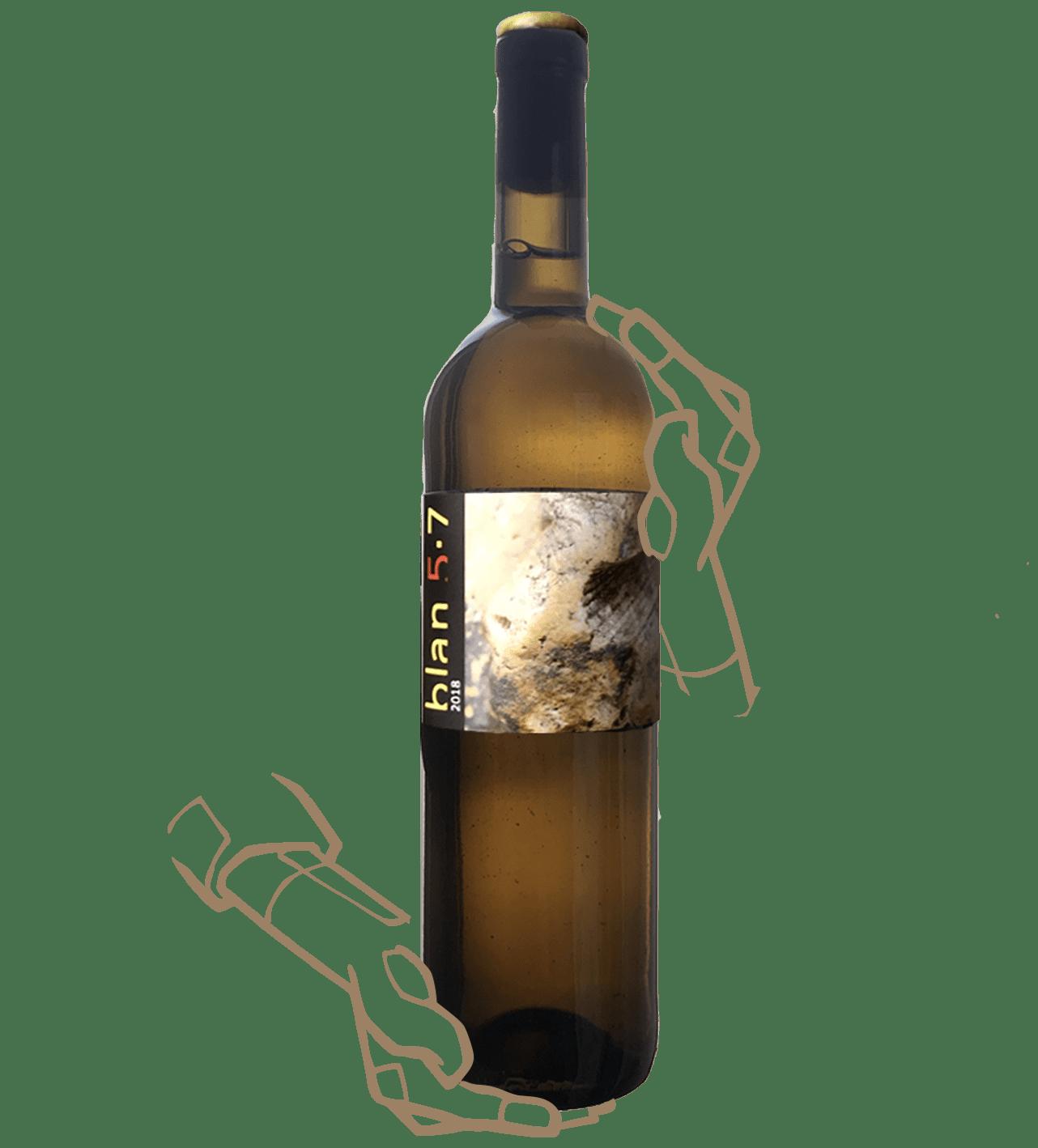 blan 5.7 de jordi lorens est un vin orange naturel