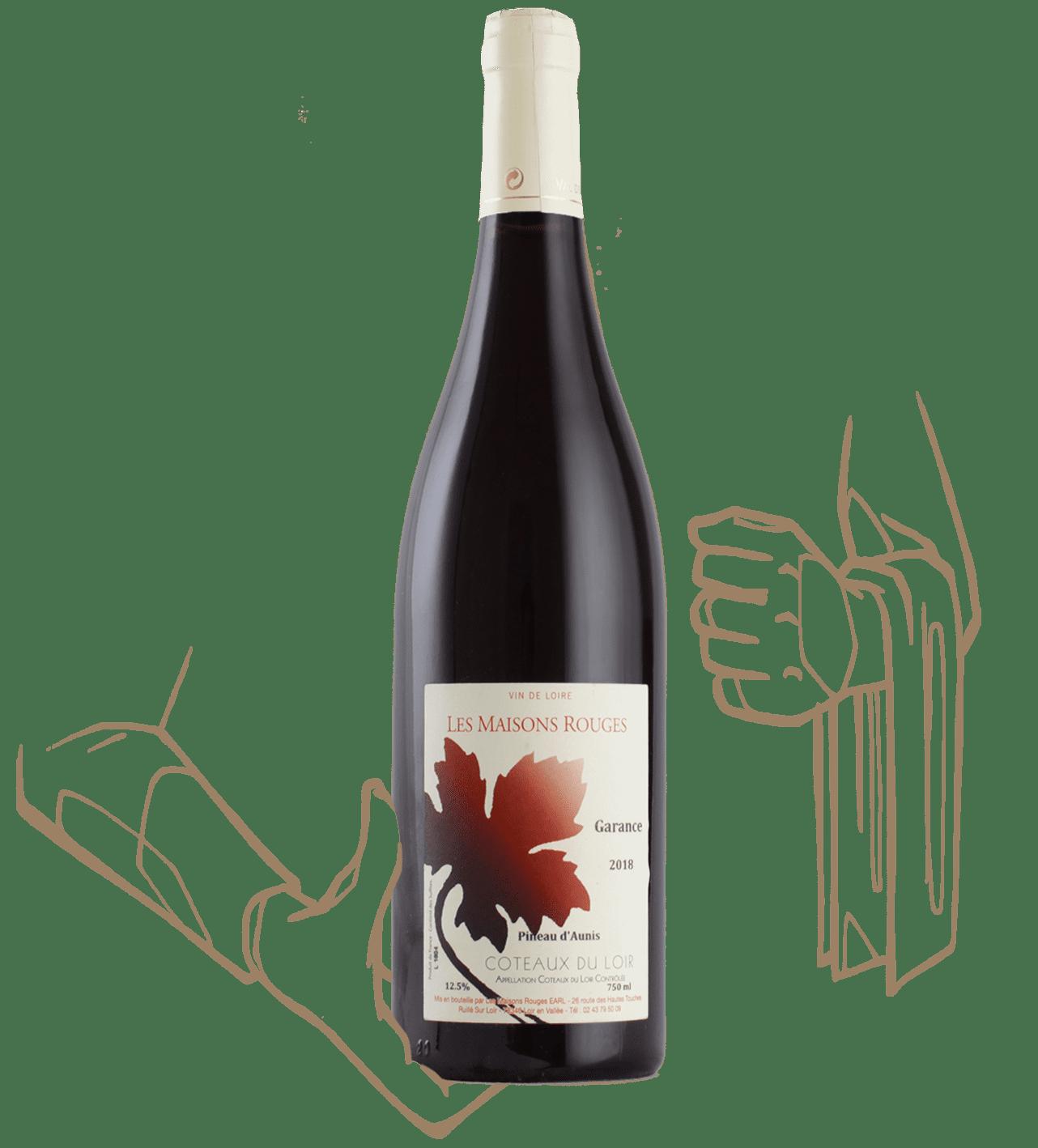 Garance est un vin naturel du domaine les maisons rouges