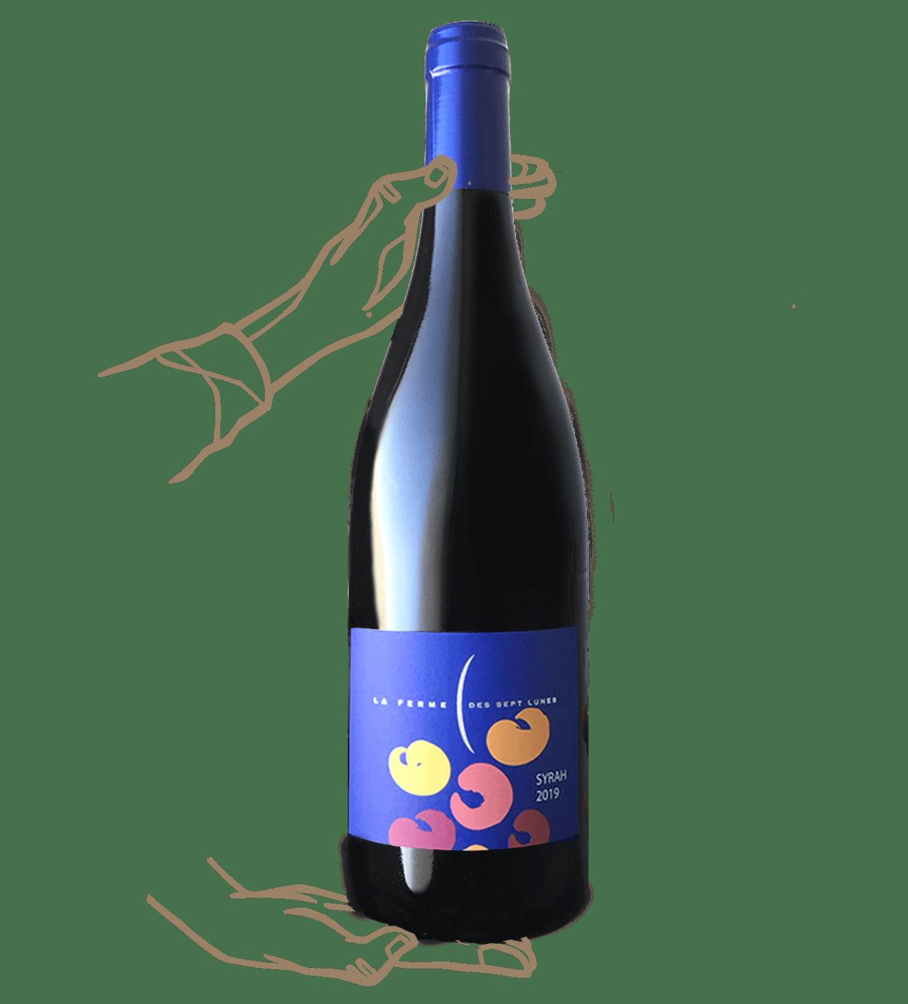 Le syrah du domaines des 7 lunes est un vin naturel sans sulfite ajouté de Saint Joseph