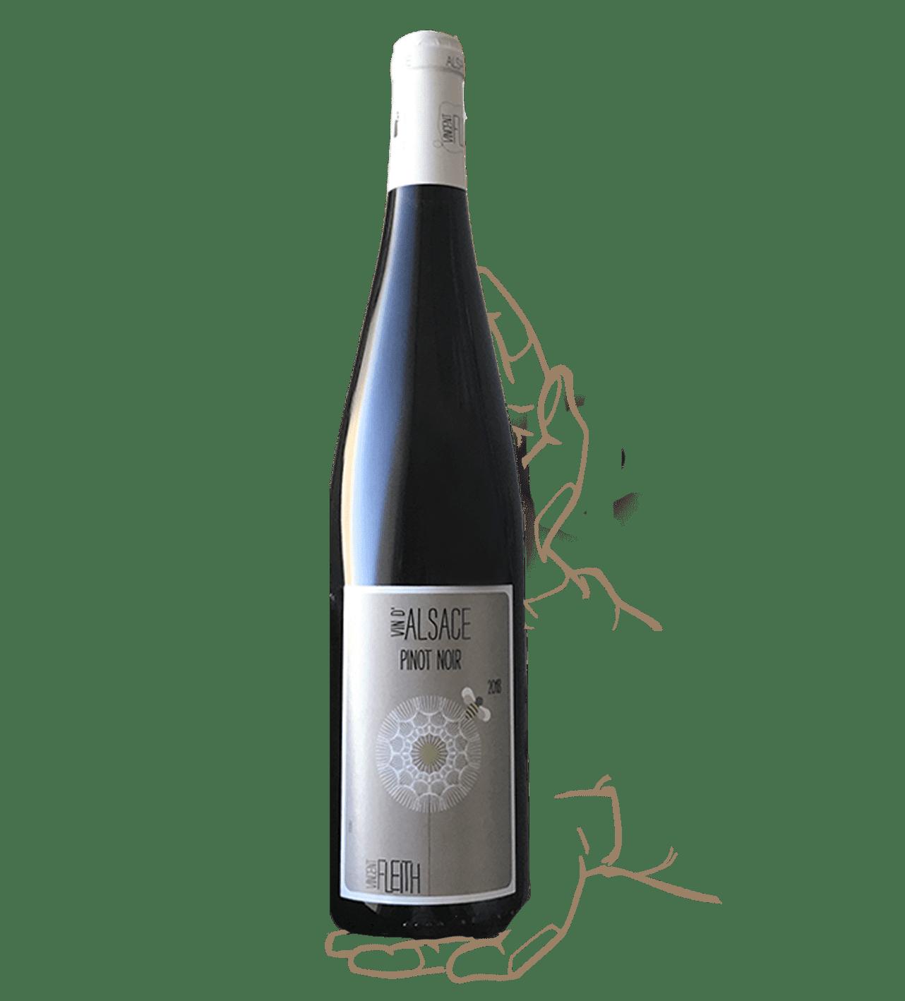 Pinot Noir de Vincent Fleith, un vin rouge biodynamique d'Alsace