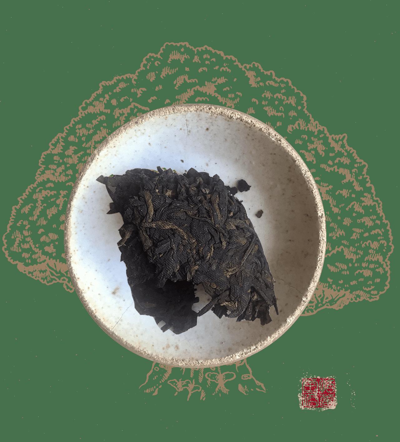 Ltc da hong yin est un thé pu erh fermenté style tuocha du yunnan
