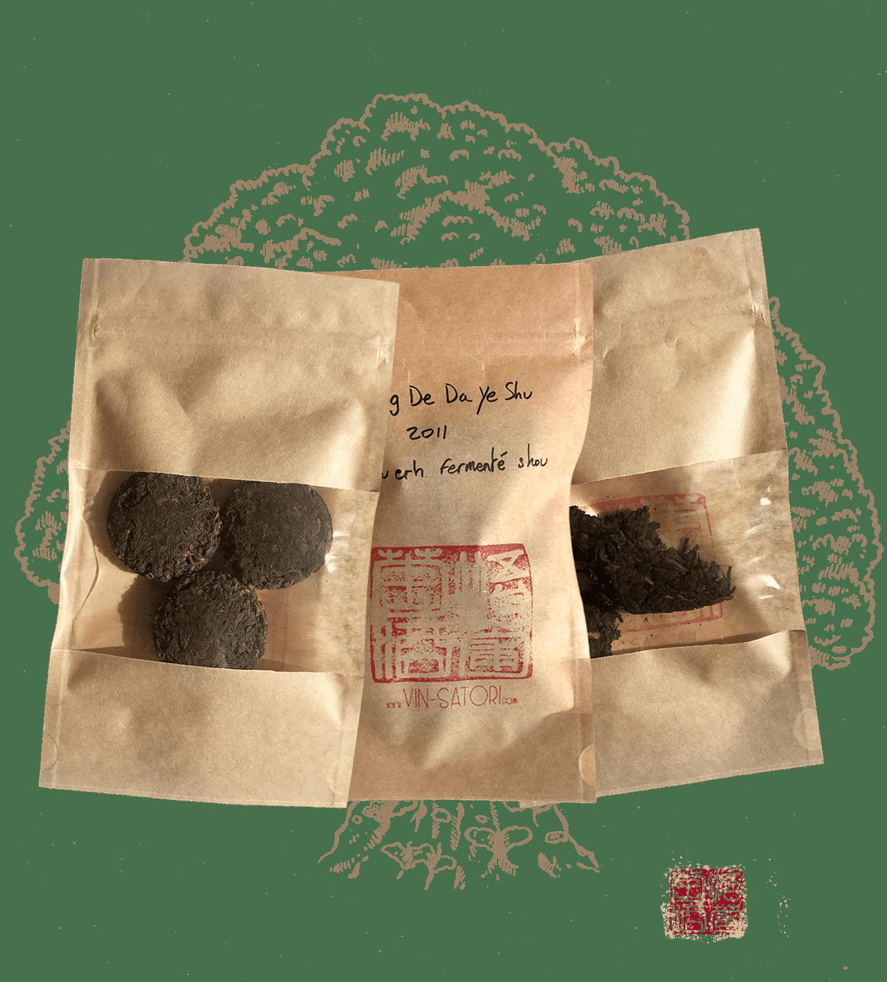 le pack matin calme est un pack de plusieurs thé puerh fermenté shou