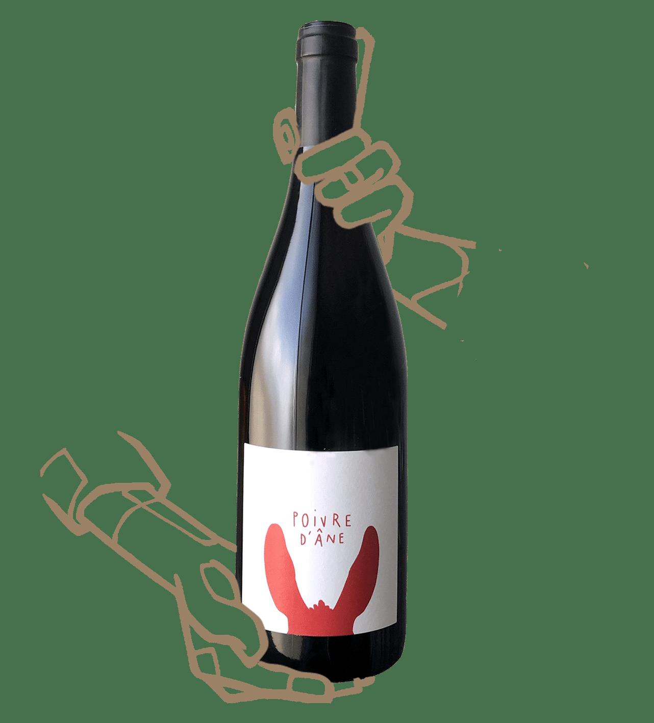 Poivre d'âne rouge est un vin naturel du languedoc