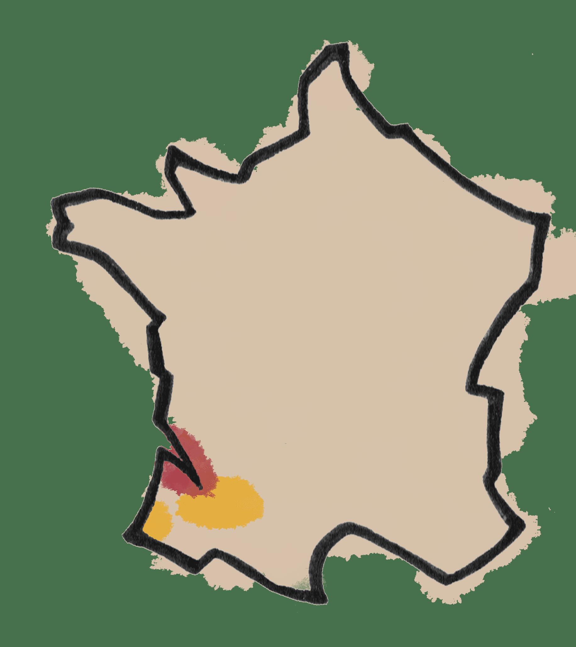 CARTE VIN BORDEAUX - SUD OUEST