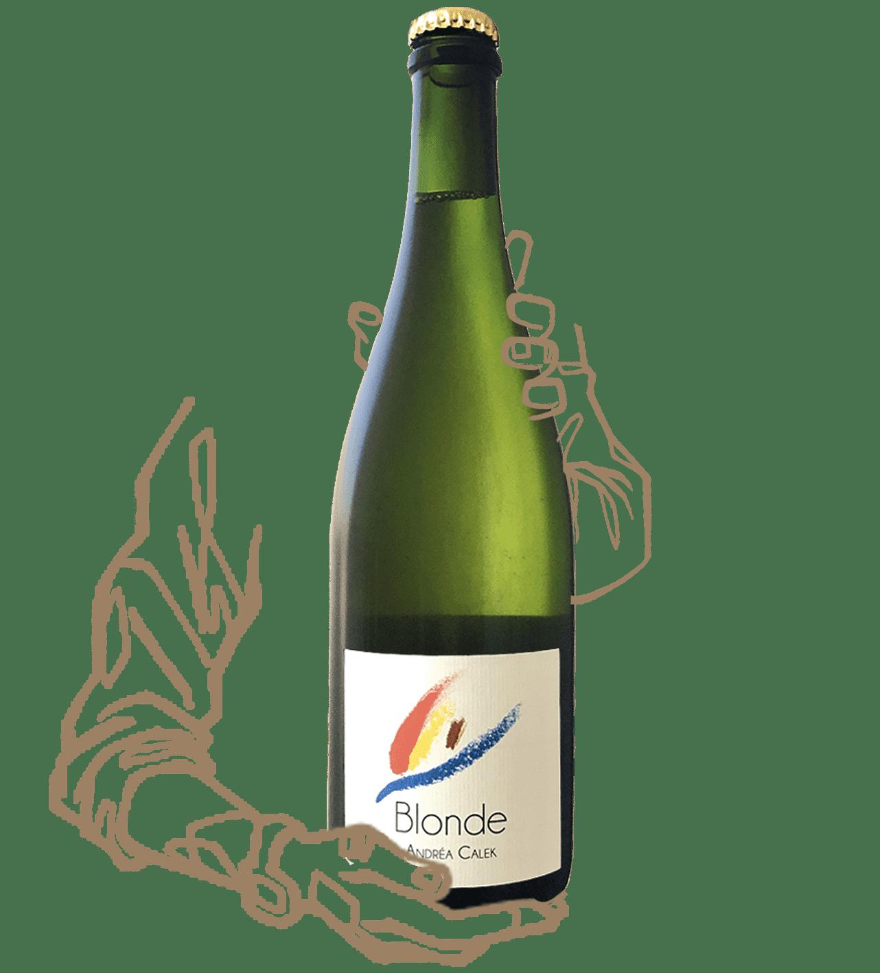 Blonde d'Andrea Calek est un vin naturel blanc sans sulphites ajoutés