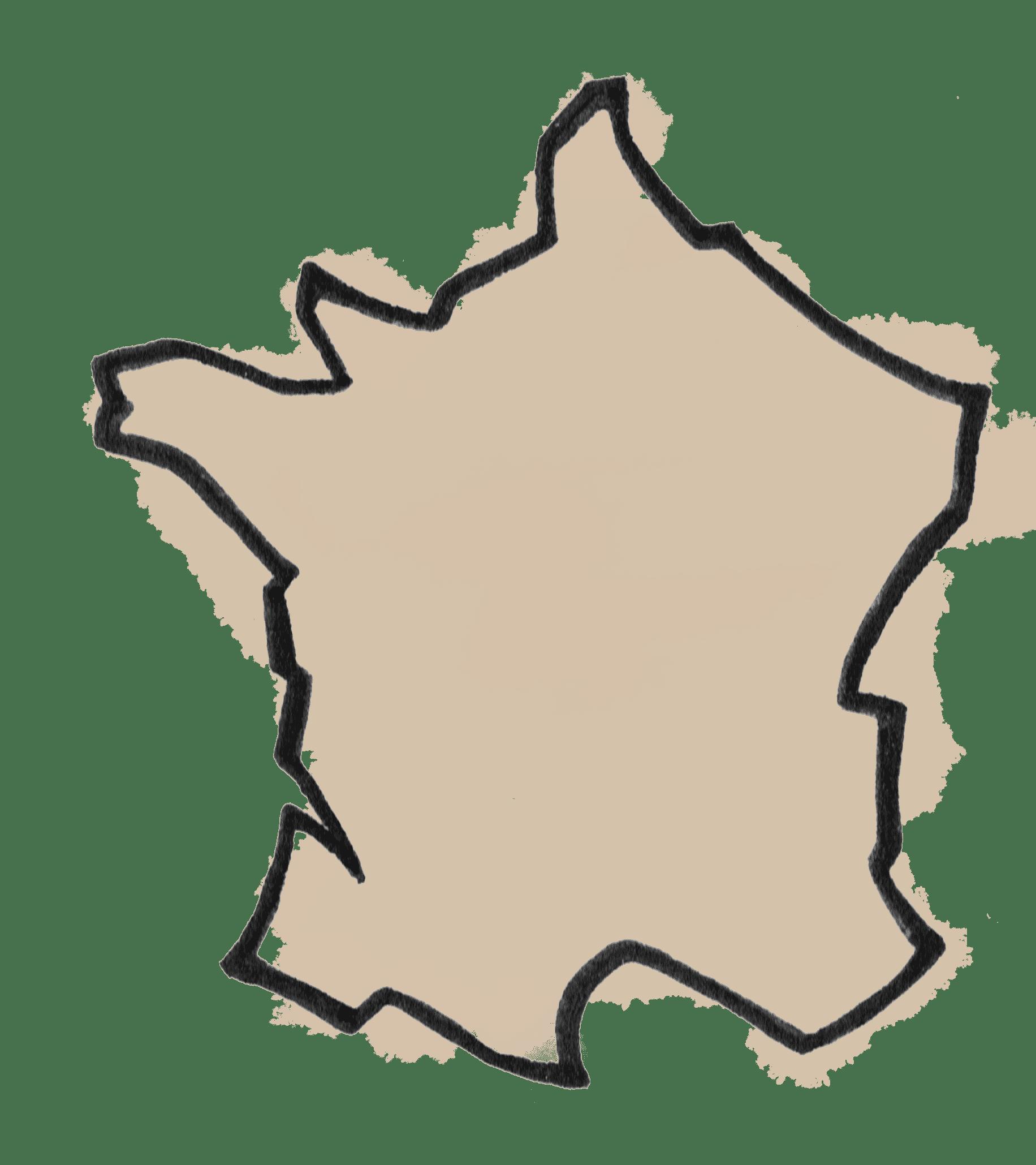 Dessin carte de France