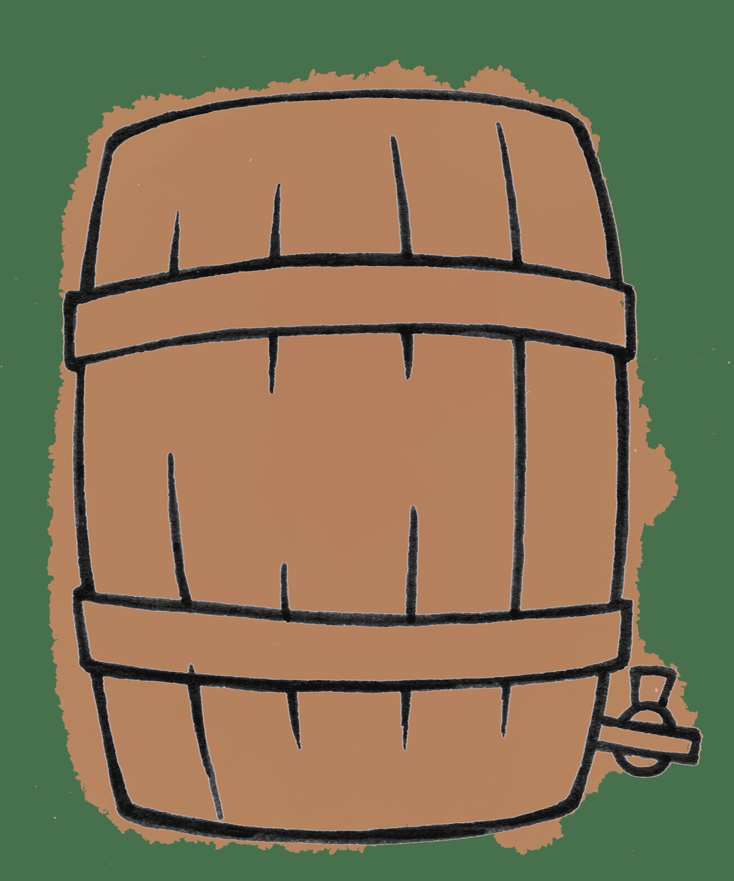 Dessin tonneau vin