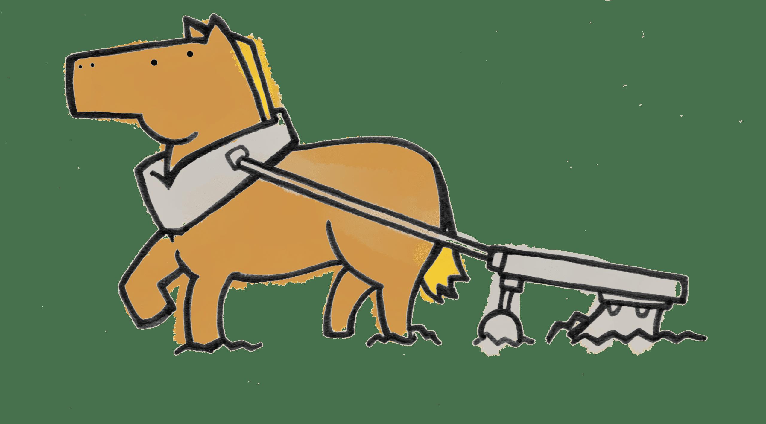 Dessin cheval qui labourre
