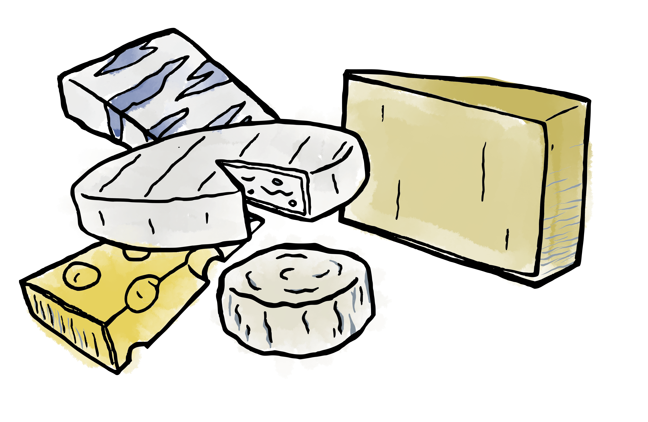 Dessin plateau de fromages