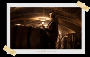 Julien Guillot dans sa cave