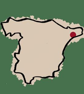 CARTE du vignoble PARTIDA CREUS