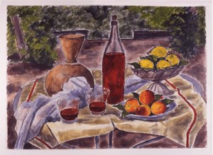 Still Life with Two Glasses of Wine 1959  André-Dunoyer de Segonzac