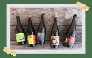 Bouteilles de vin naturel La Sorage