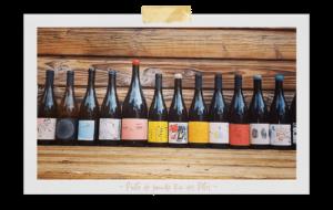 Bouteille de vin des potes