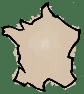 Carte de France pinceau