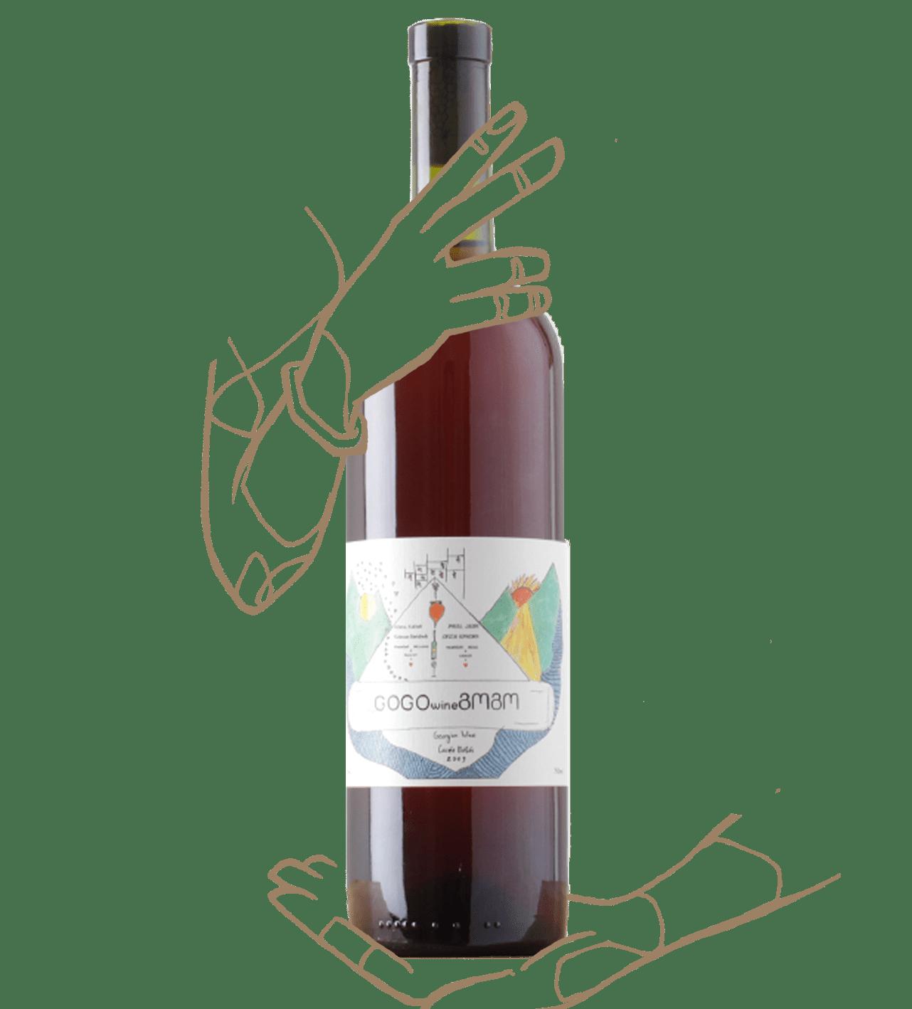 Bébés de Gogo Wine est un vin rosé naturel de géorgie