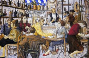 Peinture bar parisien