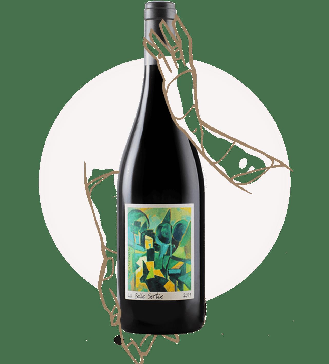la belle sortie du domaine gramenon est un vin rouge nature aoc côte du rhône