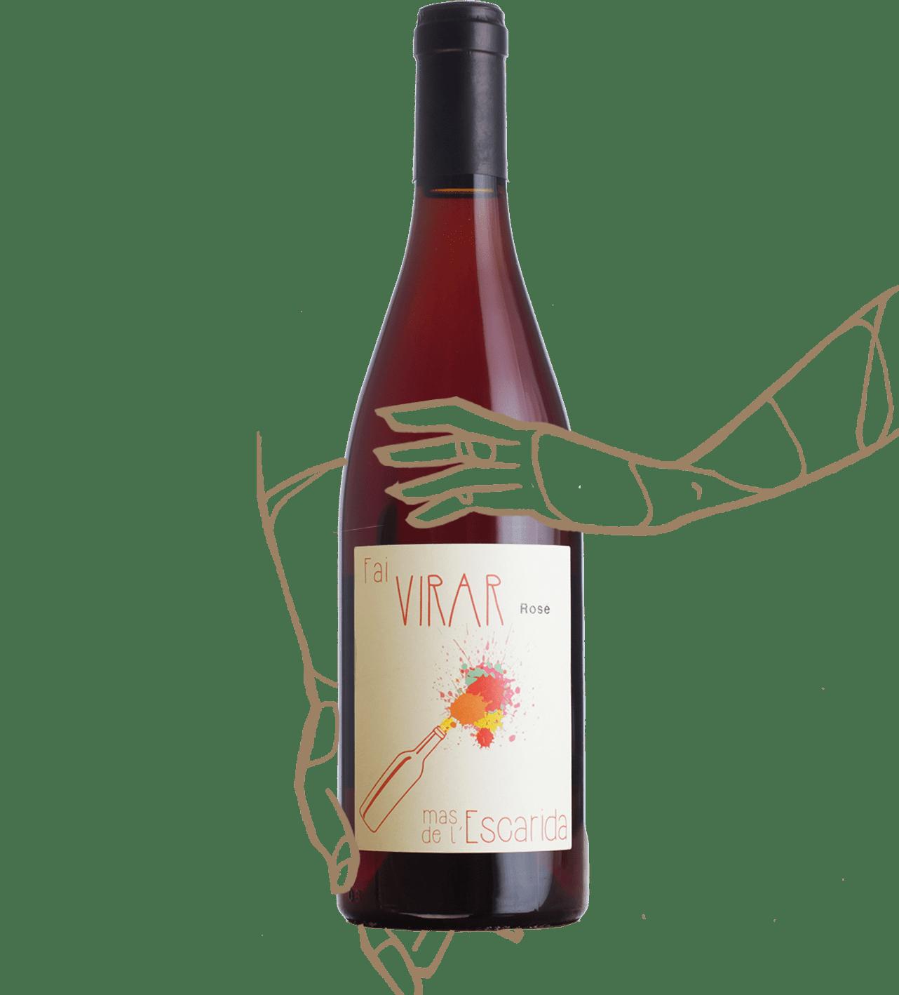 Mas de l'Escarida - Fai Virar est un rosé sans sulphites ajoutés